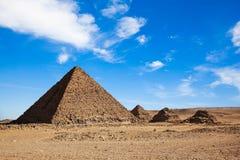 Les pyramides en Egypte images libres de droits