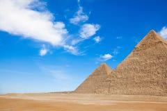 Les pyramides en Egypte photos libres de droits
