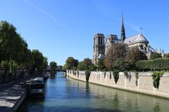 Les quais De Notre-Dame obraz stock