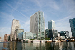 Les quartiers des docks de Londres Image stock