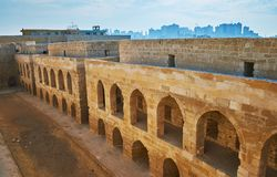 Les quarts d'Alexandria Fort, Egypte images stock