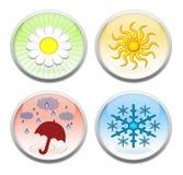 Les quatre boutons de saisons illustration de vecteur