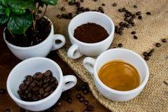 Les quatre phases de la vie de café photo libre de droits