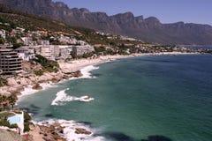Les quatre plages de Clifton Image libre de droits