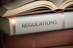 Les règlements réservent Loi, règles et concept de règlements illustration stock