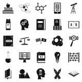 Les réponses sur des icônes de questions ont placé, style simple illustration stock
