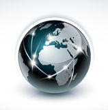 Les réseaux de transmissions du monde illustration stock