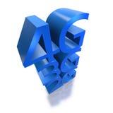 technologie 4G remplaçant 3G et mise en réseau précédente Photo libre de droits