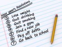 Les résolutions d'an neuf