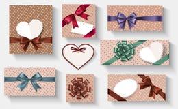 Les rétro cadeaux ont placé Image stock