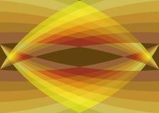Les rétro courbes jaunes convergent illustration de vecteur