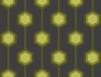 Les rétro hexagones verdissent la tuile sans joint Image libre de droits
