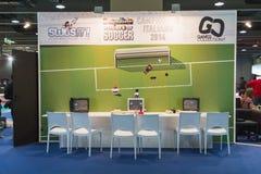 Les rétros jeux s'élèvent à la semaine 2014 de jeux à Milan, Italie Images libres de droits