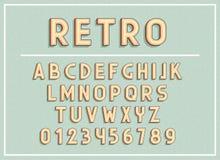 Les rétros polices et les lettres d'ABC impriment l'illustration de vecteur de typographie Photographie stock libre de droits