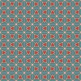 Les rétros triangles de couleur et la chaîne de blocs soustraient le fond Papier peint de mosaïque Modèle sans couture avec l'orn illustration de vecteur