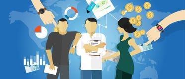 Les réunions de consultant en matière de stratégie de conseil en affaires fonctionnent la consultation de concept Image libre de droits