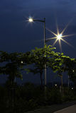 Les réverbères économiseurs d'énergie faits par la LED Photos stock