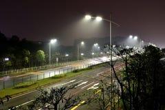Les réverbères économiseurs d'énergie faits par la LED Image stock