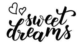 Les rêves doux balayent la calligraphie illustration de vecteur