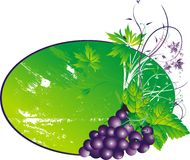 Les raisins stylisés Image libre de droits