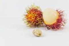 Les ramboutans sèment, fruit thaïlandais délicieux Photo libre de droits