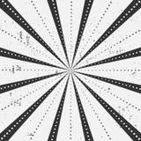 Les rayons barrés avec le modèle de points avec la lumière ont éclaté des rayures Fond abstrait de papier peint Illustration de v Image libre de droits