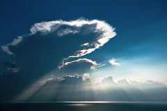 Rayons du soleil Photo libre de droits