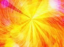 Les rayons du soleil de soleil avec le mouvement giratoire bouillonne des milieux Photographie stock