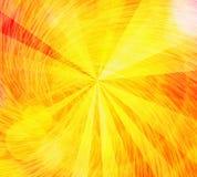 Les rayons du soleil de soleil avec le mouvement giratoire bouillonne des milieux Photos stock