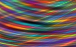 Les rayures lumineuses abstraites avec les traits horizontaux colorés, le fond moderne, 3d ont produit de l'illustration illustration libre de droits