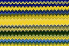 Les rayures multicolores abstraites de zigzag donnent une consistance rugueuse pour le fond photos stock