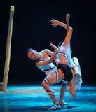 Les relations entre les hommes et la femme-course dans le danse-chorégraphe labyrinthe-moderne Martha Graham Photos stock