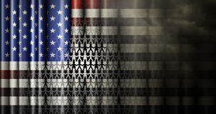 Les relations inter-raciales Etats-Unis diminuent Photos stock