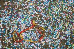 Les remainings du ` s de carnaval Photographie stock libre de droits