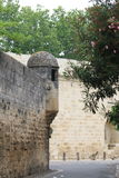 Les remparts acculent dans Aigues-Mortes, France Photo libre de droits