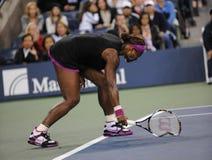 Les renversements de Williams Serena aux USA ouvrent 2009 Images libres de droits