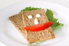 Les repas seront heureux Photos libres de droits