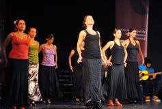 Les représentations des danseurs à l'art de flamenco de ` de Merced de La de ` centrent à Cadix Photos libres de droits