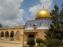 Les reproductions notables de mosquées dans l'héritage islamique se garent, Kuala Terengganu, Malaisie photographie stock