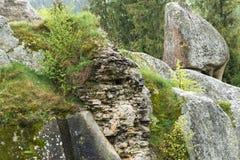 Les restes de la forteresse d'Urich Image libre de droits