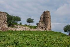 Les restes des murs de l'église de la croix sainte, Jvari Photo stock