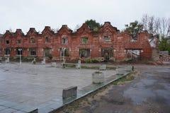 Les restes des ruines des centres commerciaux Image stock