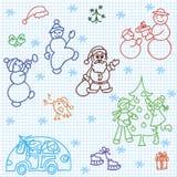Les retraits des enfants de Noël Images stock