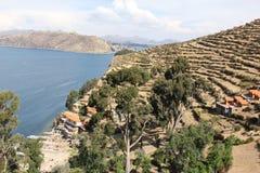 Les rivages d'Isla del Sol photographie stock