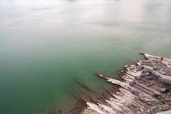 Les rivages du lac bleu Photos libres de droits