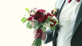 Les robes de marié au mariage banque de vidéos