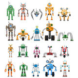 Les robots ont placé les machines de collaboration modulaires d'Android Image libre de droits