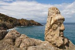 Les Rochers Sculptes (sculptures) dans Rotheneuf Images libres de droits
