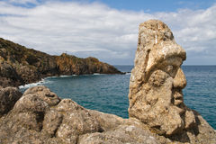 Les Rochers Sculptes (sculture) in Rotheneuf Immagini Stock Libere da Diritti