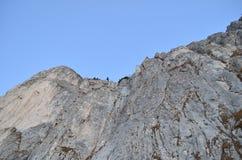 Les roches détaillent dans les Carpathiens orientaux, réservation naturelle de Piatra Craiului, Roumanie Images libres de droits